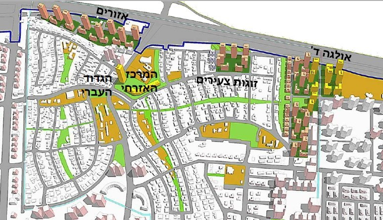 מתחמי התחדשות עירונית בגבעת אולגה
