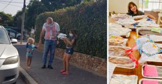 אליה אורן והעוגות - מכינה ומחלקת עם המשפחה