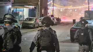 """ההפגנה בצומת אום אל פאחם. המשטרה: """"גילינו איפוק"""""""