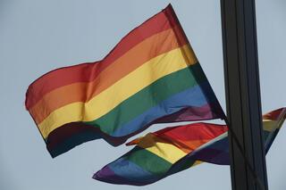 דגל הגאווה. יש לחדרה במה להשתפר