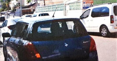 הרכב שנפרץ. צילום דוברות משטרת חוף