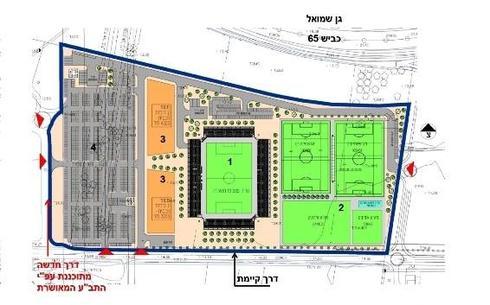 הדמיית האיצטדיון העתידי (צילום: עיריית חדרה)