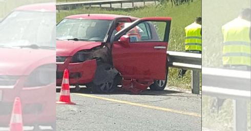 מזירת התאונה בכביש 6 (צילום: דוברות איחוד הצלה)