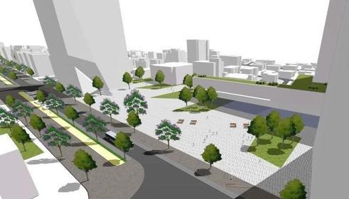 בניין עירייה חדש בחדרה | הדמייה: OKA אדריכלים