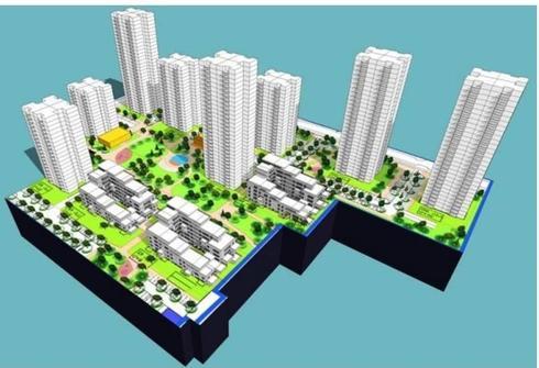 הדמיה של תוכנית בינוי בגבעת אולגה. באדיבות העירייה