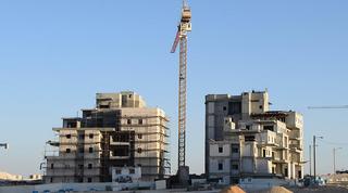 אתר בנייה בבאר שבע. צילום: הרצל יוסף