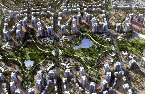 הדמיה- השכונה החדשה | באדיבות משרדי האדריכלים גיורא גור ושות', מן-שנער ופינצי רווה לונדון